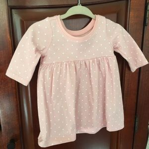 Old Navy Pink polka dot jersey dress for baby